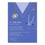 Friega la invitación médica azul de la graduación invitación 12,7 x 17,8 cm