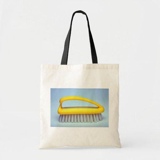 Friegue el cepillo para la limpieza pesada bolsa