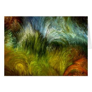 Friegue la vegetación tarjeta de felicitación