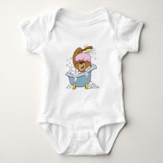 Friegue un oso del tiempo del baño de la copia body para bebé