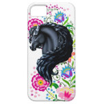 Frieisan stallion, folk flowers iPhone SE/5/5s case