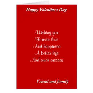 friend and family valentine's day card