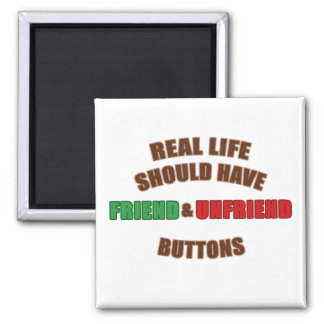 Friend and Unfriend 2 Inch Square Magnet
