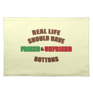 Friend and Unfriend Cloth Placemat