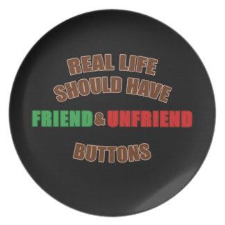 Friend and Unfriend Dinner Plate