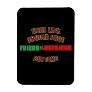 Friend and Unfriend Rectangular Photo Magnet