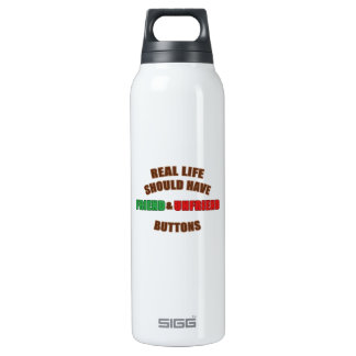 Friend and Unfriend 16 Oz Insulated SIGG Thermos Water Bottle