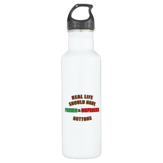 Friend and Unfriend Stainless Steel Water Bottle