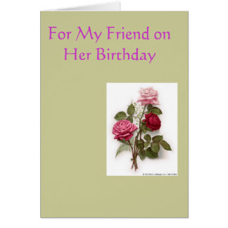 Friend Birthday1 Greeting Card