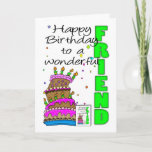 "Friend Birthday Card, Crazy Cake, Cake Birthday Ca Card<br><div class=""desc"">Friend Birthday Card,  Crazy Cake,  Cake Birthday Card</div>"