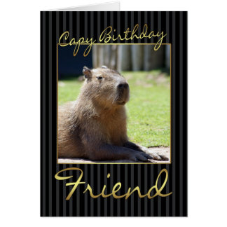 Friend Birthday Card With Capybara