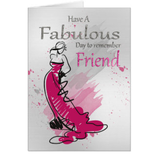 Friend, Birthday Greeting With Female, Card