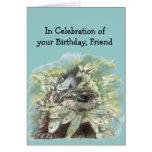 Friend Birthday Humor Cute Watercolor Otter Greeting Card