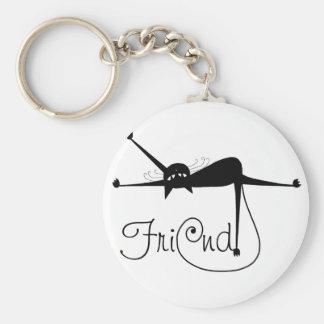 FRIEND - Black Whimsy Kitty 7 Keychain