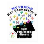 friend - butterflies parkinson awareness post card