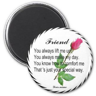 FRIEND-CANDY TIN MAGNET