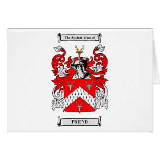 Friend Coats of Arms Card
