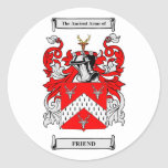 Friend Coats of Arms Classic Round Sticker