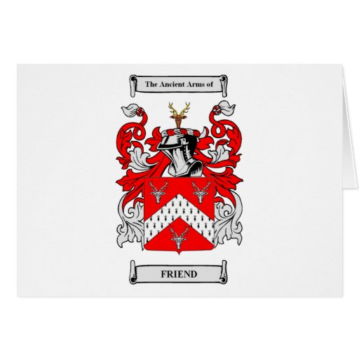Friend Coats of Arms Greeting Card