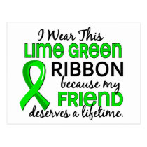 Friend Deserves Lifetime Lymphoma Postcard