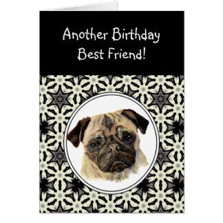 Friend Don't look Sad Birthday Pug Pet Dog Card