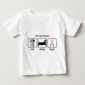 Friend Eat Sleep Hope - Breast Cancer Baby T-Shirt