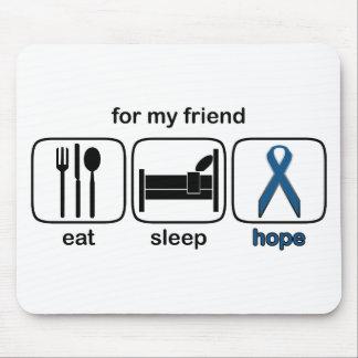 Friend Eat Sleep Hope - Colon Cancer Mouse Pad