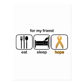 Friend Eat Sleep Hope - Leukemia Postcard