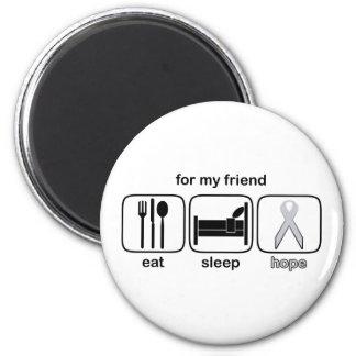 Friend Eat Sleep Hope - Lung Cancer 2 Inch Round Magnet