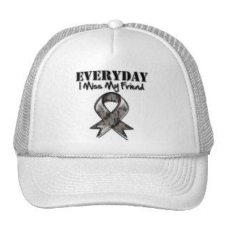 Friend - Everyday I Miss My Hero Military Trucker Hat