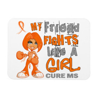 Friend Fights Like Girl MS 42 9 png Rectangular Magnet