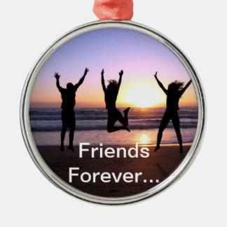 Friend  Friendship Day True Together Friends Forev Metal Ornament