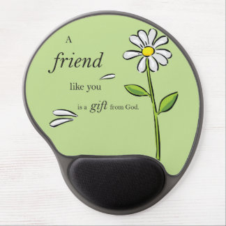 Friend Gift of God, Daisy on Green, Religious Gel Mouse Pad