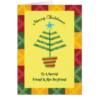 Friend & Her Boyfriend Primsy Christmas Card
