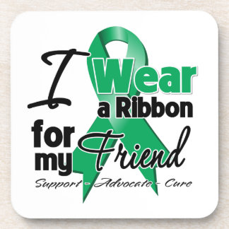 Friend - Liver Cancer Ribbon.png Coasters