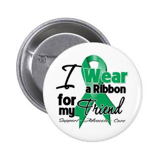 Friend - Liver Cancer Ribbon.png Pinback Button