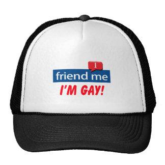 Friend Me I m Gay Mesh Hat
