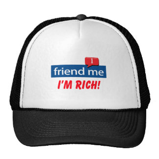 Friend Me I m Rich Mesh Hat