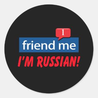 Friend Me, I'm Russian! Classic Round Sticker