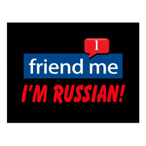 Friend Me, I'm Russian! Postcard