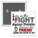 Friend Means World To Me Diabetes Pins