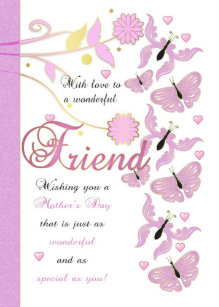 Friends mothers day cards zazzle friend mothers day card with flowers and butterfl m4hsunfo