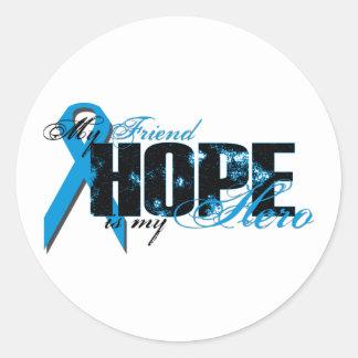 Friend My Hero - Prostate Hope Classic Round Sticker