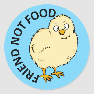 Friend Not Food Vegan Chicken Classic Round Sticker