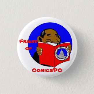 Friend of ComicsDC badge (design 2) Pinback Button