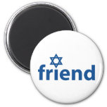Friend of Israel 2 Inch Round Magnet