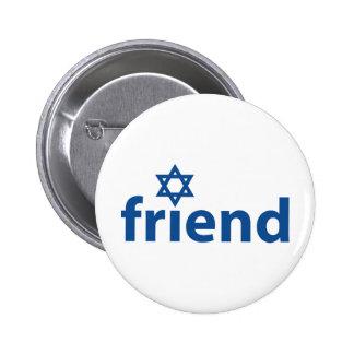 Friend of Israel Pinback Button