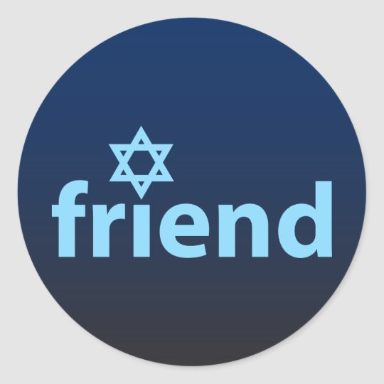 Friend of Israel Classic Round Sticker