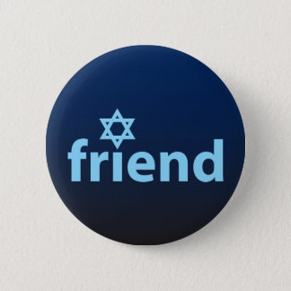 Friend of Israel Pinback Button