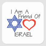 Friend of Israel Square Stickers